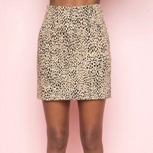 Brandy Melville Leopard Skirt